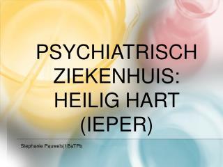 Psychiatrisch ziekenhuis: Heilig Hart Ieper
