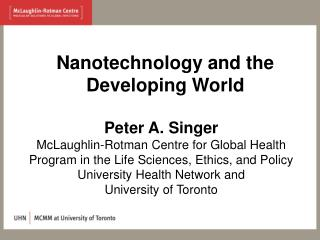 Nanotechnology and the Developing World