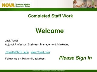 Completed Staff Work