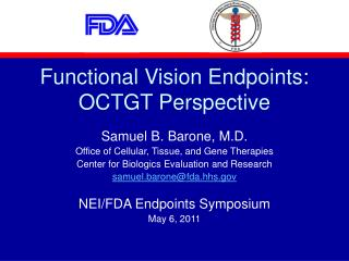 Functional Vision Endpoints: OCTGT Perspective