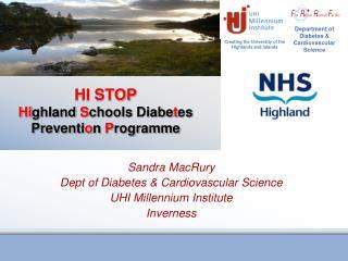 HI STOP Highland Schools Diabetes Prevention Programme