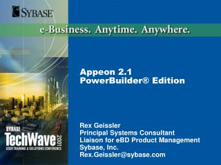 Appeon 2.1  PowerBuilder  Edition