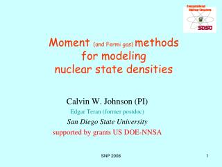 Moment and Fermi gas methods for modeling  nuclear state densities