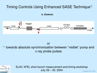 Timing Controls Using Enhanced SASE Technique