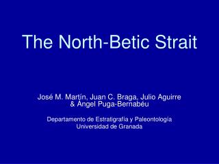 The North-Betic Strait