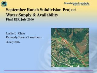 September Ranch Subdivision Project Water Supply  Availability Final EIR July 2006