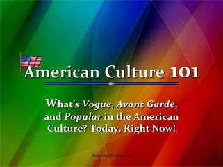AMERICAN CULTURE 101
