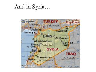 And in Syria