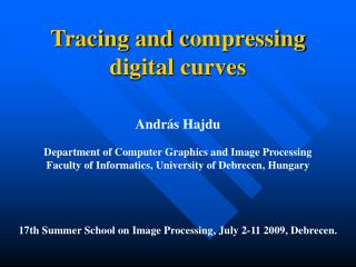 Tracing and compressing  digital curves