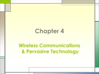 Wireless Communications   Pervasive Technology