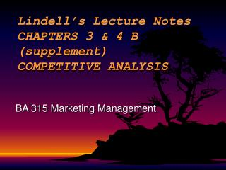 Lindell s Lecture Notes                     CHAPTERS 3  4 B                          supplement                   COMPET
