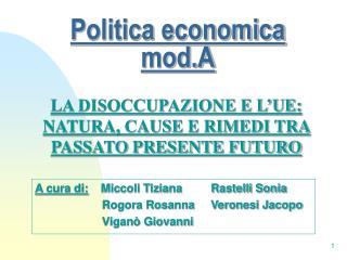 Politica economica mod.A