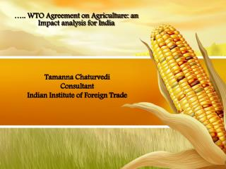 Tamanna Chaturvedi Consultant Indian Institute of Foreign Trade