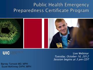 Public Health Emergency Preparedness Certificate Program