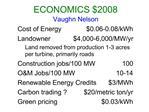 ECONOMICS 2008 Vaughn Nelson