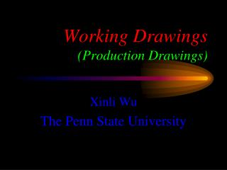 Working Drawings  Production Drawings