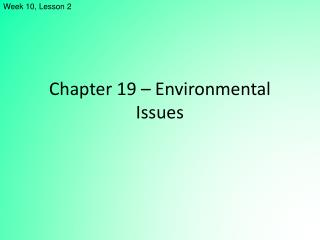 Chapter 19   Environmental Issues