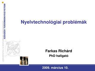 Nyelvtechnol giai probl m k