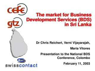 The market for Business Development Services BDS in Sri Lanka