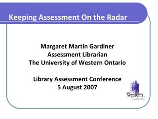 Keeping Assessment On the Radar