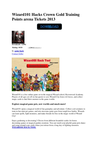 wizard101 crown hacks generator