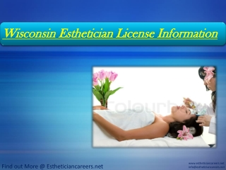 Wisconsin Esthetician License Information