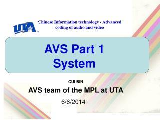AVS Part 1 System