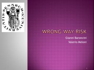 Wrong Way risk