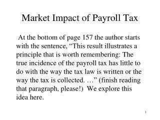 Market Impact of Payroll Tax