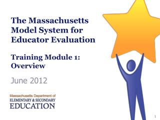 The Massachusetts Model System for Educator Evaluation  Training Module 1: Overview