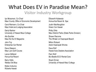 What Does EV in Paradise Mean