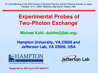 Experimental Probes of Two-Photon Exchange