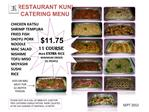 RESTAURANT KUNI CATERING MENU