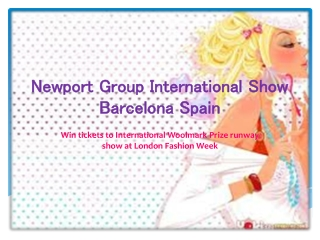Newport group international show barcelona spain
