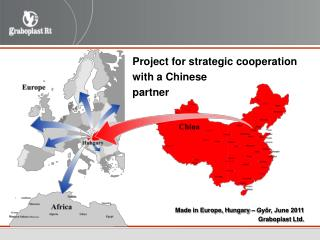 Project for strategic cooperation  with a Chinese  partner