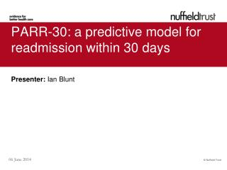 PARR-30: a predictive model for readmission within 30 days