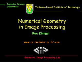 Numerical Geometry  in Image Processing