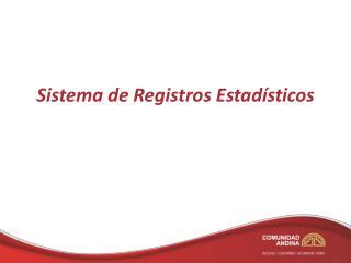 Sistema de Registros Estad sticos