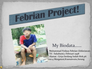 Biodata Febrian Ghifariawan