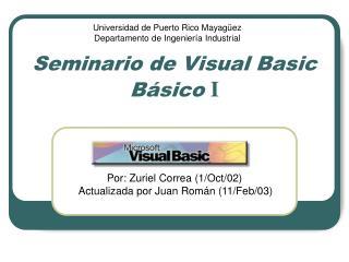 Seminario de Visual Basic B sico I