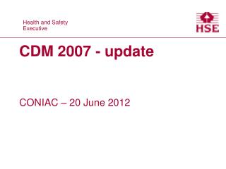 CDM 2007 - update