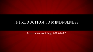 Introduction to Mindfulness In General Practice