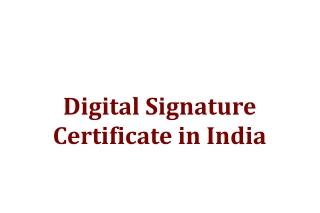 Digital Signature Certificate - eMudhra