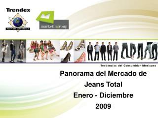 Panorama del Mercado de Jeans Total Enero - Diciembre 2009