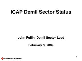 ICAP Demil Sector Status
