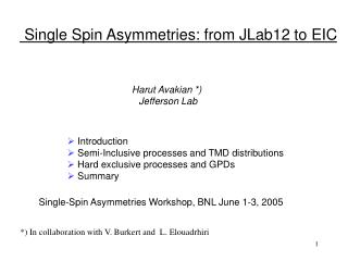 Single Spin Asymmetries: from JLab12 to EIC