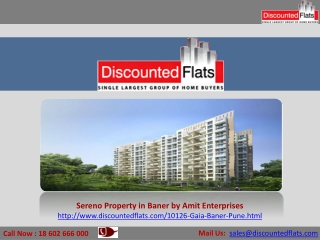 Sereno � Baner, Pune by Amit Enterprises with 2/3BHK