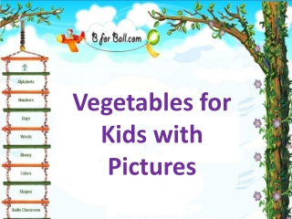 Vetables for Kids with Pictures