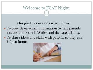 Welcome to FCAT Night: