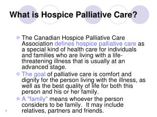 What is Hospice Palliative Care